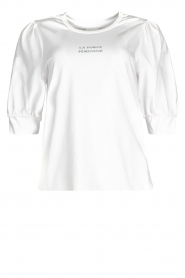 Dante 6 |  Cotton t-shirt with puff sleeves Force | white