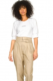 Dante 6 |  Cotton t-shirt with puff sleeves Force | white  | Picture 4