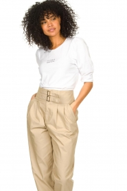 Dante 6 |  Cotton t-shirt with puff sleeves Force | white  | Picture 2