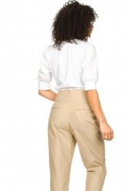 Dante 6 |  Cotton t-shirt with puff sleeves Force | white  | Picture 6