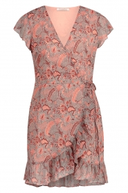 Freebird |  Paisley printed wrap dress Rosy | pink  | Picture 1