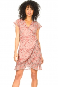 Freebird |  Paisley printed wrap dress Rosy | pink  | Picture 4