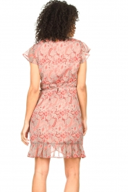 Freebird |  Paisley printed wrap dress Rosy | pink  | Picture 6