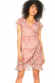 Freebird |  Paisley printed wrap dress Rosy | pink  | Picture 2