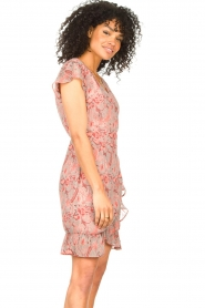 Freebird |  Paisley printed wrap dress Rosy | pink  | Picture 5