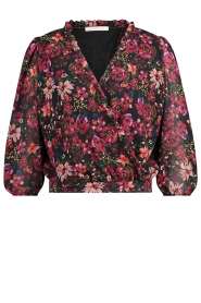 Freebird |  Floral blouse Veda | pink  | Picture 1