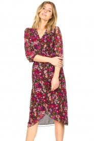 Freebird |  Floral blouse Veda | pink  | Picture 2