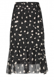 Freebird |  Skirt with leopard print Davina | black  | Picture 1