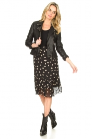 Freebird |  Skirt with leopard print Davina | black  | Picture 3