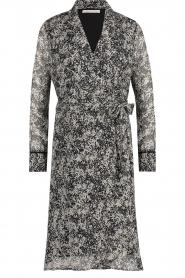 Freebird |  Printed midi wrap dress Isaya | black  | Picture 1