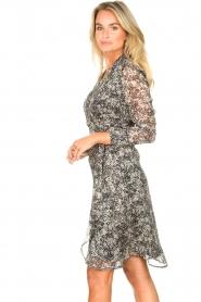 Freebird |  Printed midi wrap dress Isaya | black  | Picture 5