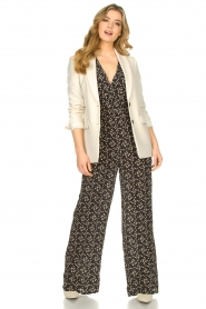 Freebird |  Jumpsuit with print Florine | black  | Picture 2