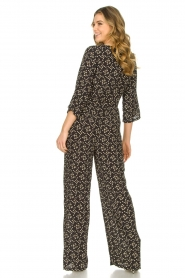 Freebird |  Jumpsuit with print Florine | black  | Picture 5