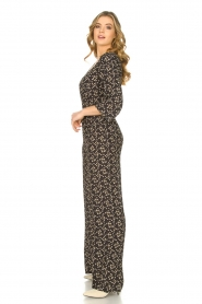 Freebird |  Jumpsuit with print Florine | black  | Picture 4