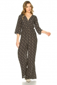 Freebird |  Jumpsuit with print Florine | black  | Picture 3