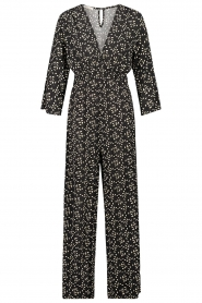 Freebird |  Jumpsuit with print Florine | black  | Picture 1