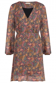Freebird |  Paisley printed dress Chara | yellow  | Picture 1