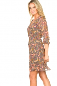 Freebird |  Paisley printed dress Chara | yellow  | Picture 5