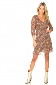 Freebird |  Paisley printed dress Chara | yellow  | Picture 3