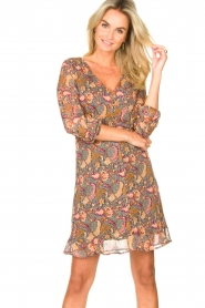 Freebird |  Paisley printed dress Chara | yellow  | Picture 4