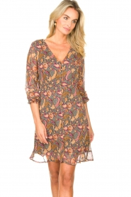 Freebird |  Paisley printed dress Chara | yellow  | Picture 2