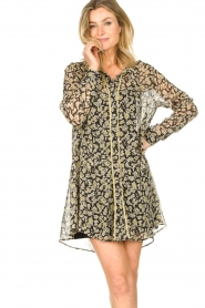 Freebird |  Floral button-up dress Celeste | yellow  | Picture 2