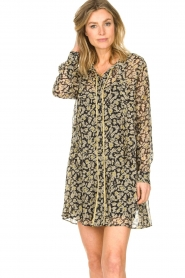 Freebird |  Floral button-up dress Celeste | yellow  | Picture 5