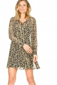 Freebird |  Floral button-up dress Celeste | yellow  | Picture 4
