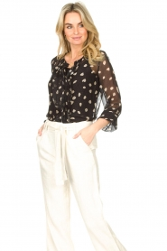 Freebird |  Blouse with leopard print Chelly | black  | Picture 4