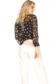 Freebird |  Blouse with leopard print Chelly | black  | Picture 8