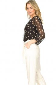 Freebird |  Blouse with leopard print Chelly | black  | Picture 7