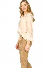 Freebird |  Sheer blouse with puff sleeves Frederica | natural  | Picture 6