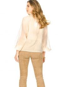 Freebird |  Sheer blouse with puff sleeves Frederica | natural  | Picture 7