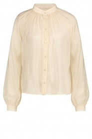 Freebird |  Sheer blouse with puff sleeves Frederica | natural  | Picture 1