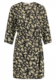 Freebird    Paisley printed wrap dress Odette   black    Picture 1