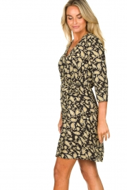 Freebird    Paisley printed wrap dress Odette   black    Picture 6