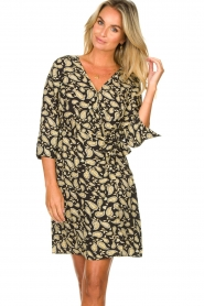 Freebird    Paisley printed wrap dress Odette   black    Picture 2