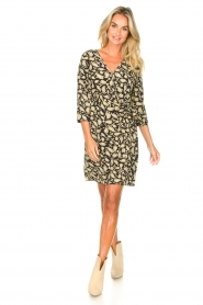 Freebird    Paisley printed wrap dress Odette   black    Picture 3
