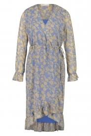 Freebird |  Midi wrap dress Zowy | purple  | Picture 1