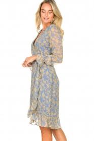 Freebird |  Midi wrap dress Zowy | purple  | Picture 6