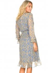 Freebird |  Midi wrap dress Zowy | purple  | Picture 7