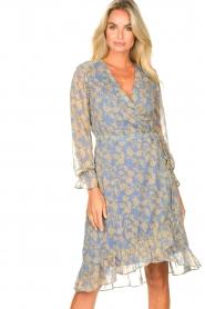 Freebird |  Midi wrap dress Zowy | purple  | Picture 2