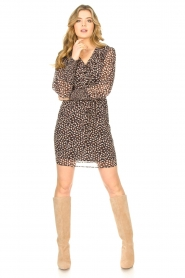 Freebird |  Dress with ruffles Healy | brown  | Picture 4