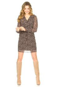 Freebird |  Dress with ruffles Healy | brown  | Picture 3