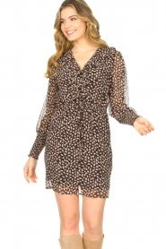 Freebird |  Dress with ruffles Healy | brown  | Picture 2
