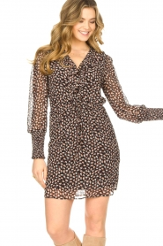 Freebird |  Dress with ruffles Healy | brown  | Picture 6
