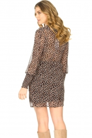 Freebird |  Dress with ruffles Healy | brown  | Picture 8
