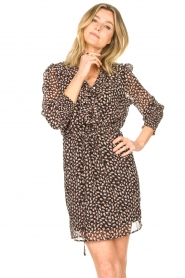 Freebird |  Dress with ruffles Healy | brown  | Picture 5