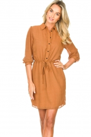 Freebird |  Printed dress with drawstring Bridget | brown  | Picture 2