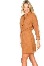 Freebird |  Printed dress with drawstring Bridget | brown  | Picture 6